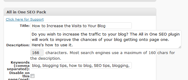 How to use the All in One SEO plug in