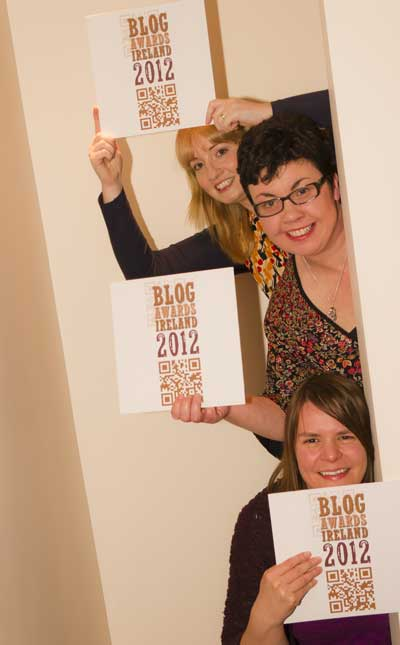 Blog Awards Ireland - Beatrice, Lorna & Amanda
