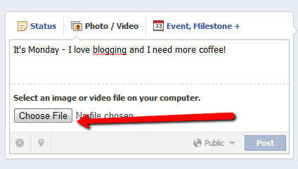 How to upload a photo on facebook