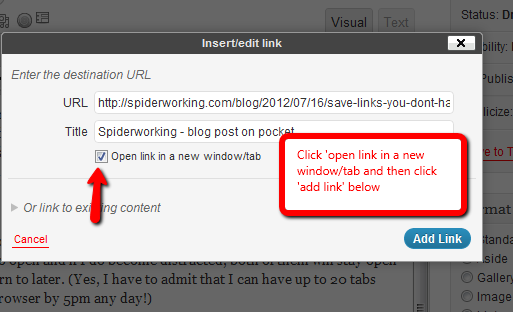 How to ensure links open in a new window